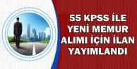 55 KPSS ile Zabıta, İtfaiye Eri ve Memur Alımı Yapılacak