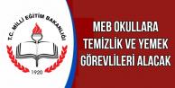 81 İldeki MEB Okullarına Temizlik ve Yemek Personeli Alınacak