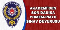 Akademi'den POMEM ve PMYO Sınav Duyurusu