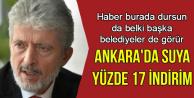 Ankara'da Suya Yüzde 17 İndirim