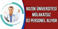 Bozok Üniversitesi'ne 93 Personel Alınacak