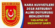 Kara Kuvvetleri 2018 Astsubay Alımı Bekleniyor (Yaş-KPSS-Mezuniyet Şartı)