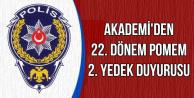 Polis Akademisi'nden 22. Dönem POMEM Duyurusu