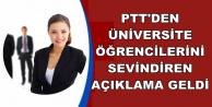 PTT'den Üniversite Öğrencilerine Müjde