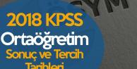 2018 KPSS Ortaöğretim Sınav Sonuç Tarihi ve Tercih Tarihleri