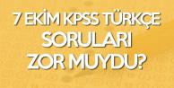 7 Ekim 2018 KPSS Türkçe Sınav Soruları, Cevapları ve Yorumları