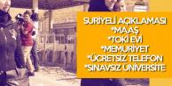 Göç İdaresi'nden Suriyeli Açıklaması : Maaş, Memuriyet, Bedava Ev, Telefon Faturaları