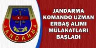 Jandarma Komando Uzman Erbaş Alımı Mülakatları Başladı