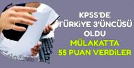 KPSS Türkiye 3'üncüsüne Mülakatta 55 Puan Verdiler