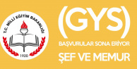 MEB Şef ve Memur Kadroları için GYS Yazılı Sınav Başvuruları için Son Gün