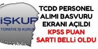 TCDD Başvuru Ekranı Açıldı-Başvuru Şartları Belli Oldu