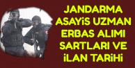 Yeni Jandarma Asayiş Uzman Erbaş Alımı Başvuru Şartları