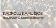 104 Kadrolu Kamu İşçisi Alımı için Başvurular Pazartesi Başlayacak