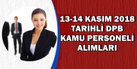 13-14 Kasım 2018 Tarihli DPB İlanları: KPSS'siz ve 60 KPSS ile Memur Alımı