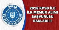 2018 KPSS ile İlk Memur Alımı Başvurusu Başladı