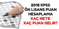 2018 Ön Lisans KPSS Puan Hesaplama-Kaç Nete Kaç Puan Gelir?