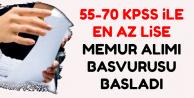 55-70 KPSS ile Kadrolu Memur Alımı Başvurusu Bugün Başladı