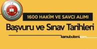 Adalet Bakanlığı'na 1600 Yeni Hakim ve Savcı Alınıyor (Son Başvuru Tarihi ve Sınav Tarihi)