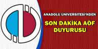 Anadolu Üniversitesi'nden Son Dakika AÖF Sınav Duyurusu (Giriş Belgesi Ne Zaman?)