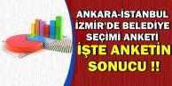 Ankara, İstanbul ve İzmir'de Seçim Anketi-İşte Anket Sonucu