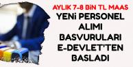 Başvurular E-Devlet'ten: 7-8 Bin TL ile Kamu Personeli Alımı Başvuruları Başladı