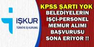 Belediyelere KPSS'siz Personel-İşçi-Memur Alımı-Son Başvuru: 17 Kasım 2018