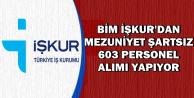 BİM İŞKUR'dan Mezuniyet Şartsız 603 Personel Alımı Yapıyor