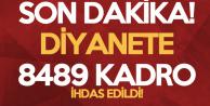 Diyanet İşleri Başkanlığı'na 8489 Kadro İhdas Edildi