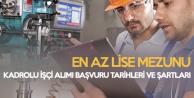 En Az Ortaöğretim Mezunu Kadrolu İşçi Alımının Başvuru Şartları Netleşti