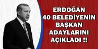 Erdoğan AK Parti'nin Belediye Başkanı Adaylarını Açıklıyor
