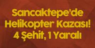 İstanbul-Sancaktepe'de Evlerin Arasına Askeri Helikopter Düştü! 4 Şehit, 1 Yaralı
