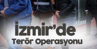 İzmir'de Bölücü Teröristlere Şok Baskın! 23 Kişi Kıskıvrak Yakalandı