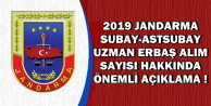 Yeni Jandarma Uzman Erbaş-Astsubay ve Subay Alımı Sayısı İçin Açıklama