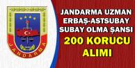 Jandarma Uzman Erbaş Astsubay ve Subay Olma Şansı: 200 Korucu Alımı