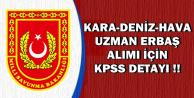 Kara-Deniz-Hava Uzman Erbaş Alımında KPSS Detayı Netleşti