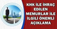 KHK ile İhraç Edilen Memurların İadesi ile İlgili Açıklama: OHAL Komisyonu..