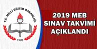 MEB 2019 Yılı Sınav Tarihleri Açıklandı