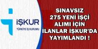 MEB ve Adalet Bakanlığı İŞKUR'dan Sınavsız 275 İşçi Alımı Yapıyor