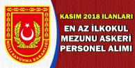 MSB-Jandarma Kasım 2018 İlanları: En Az İlkokul Mezunu Askeri Personel Alımı