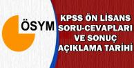 Önlisans KPSS Soru ve Cevapları ile Sınav Sonuç Açıklama Tarihi