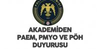 Polis Akademisi'nden Duyurular Art Arda Geldi -  PAEM, PMYO, PAEM (PÖH)