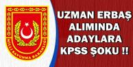 Uzman Erbaş Alımında Adaylara KPSS Şoku !