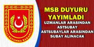 Uzman Erbaşlar ve Astsubaylar Dikkat: MSB 400 Subay-Astsubay Alımı