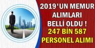 247 Bin 587 Kamu Personeli Alımı Dağılımı (PTT-Bekçi-POMEM-PÖH-TYP-Öğretmen-Adalet-CTE)