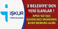 3 Kamu İlanı: KPSS'siz 112 Büro Memuru-Mühendis-Güvenlikçi-İşçi Alımı