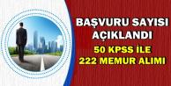 50 KPSS ile Kadrolu Alıma Başvuru Sayısı Açıklandı
