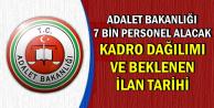 Adalet Bakanlığı 7 Bin Yeni Personel Alacak-İşte Kadro Dağılımı ve Beklenen İlan Tarihi