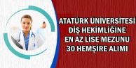 Atatürk Üniversitesi'ne En Az Lise Mezunu 30 Hemşire Alımı