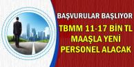 Başvurular Başlıyor: TBMM'ye 11-18 Bin TL Maaşla Yeni Kamu Personeli Alımı