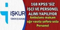 Beykoz Belediyesine KPSS'siz 168 Personel Alımı (Ambulans-Makam Şoförü-İşçi)